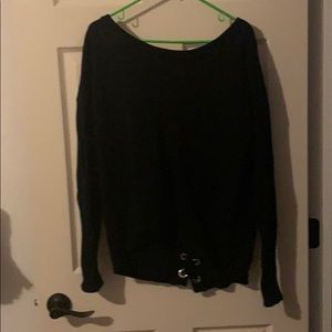 Express Oversized Sweater Laced Back